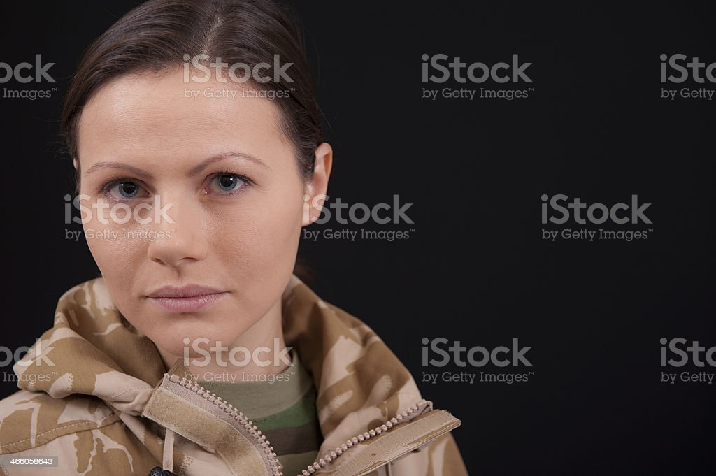 Army Girl stock photo