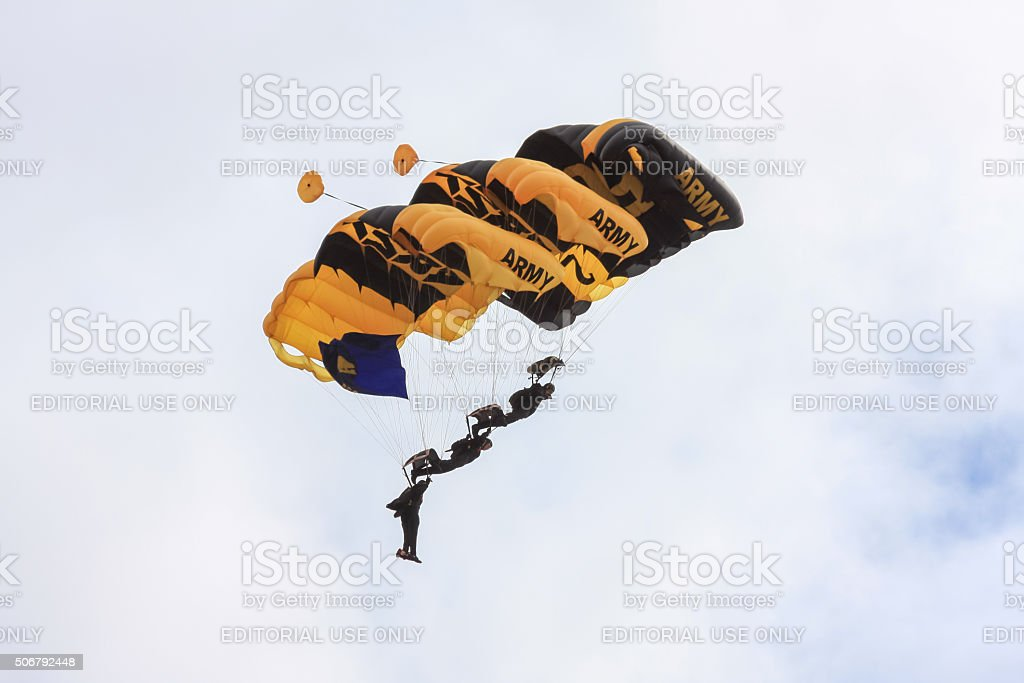 US Army Golden Knights 50th Anniversary stock photo