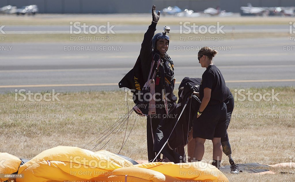 US Army Golden Knights Paratrooper royalty-free stock photo