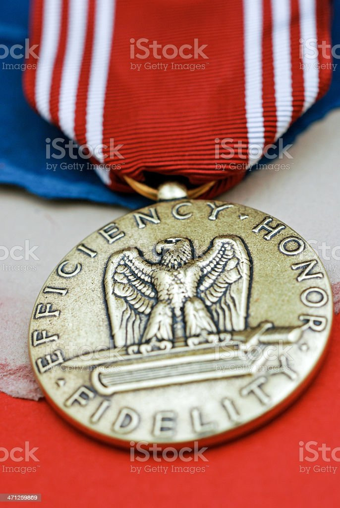 US Army Good Conduct Medal royalty-free stock photo
