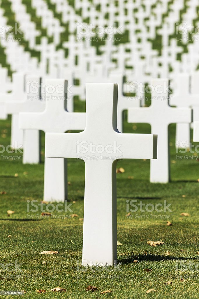 US Army Graveyard royalty-free stock photo