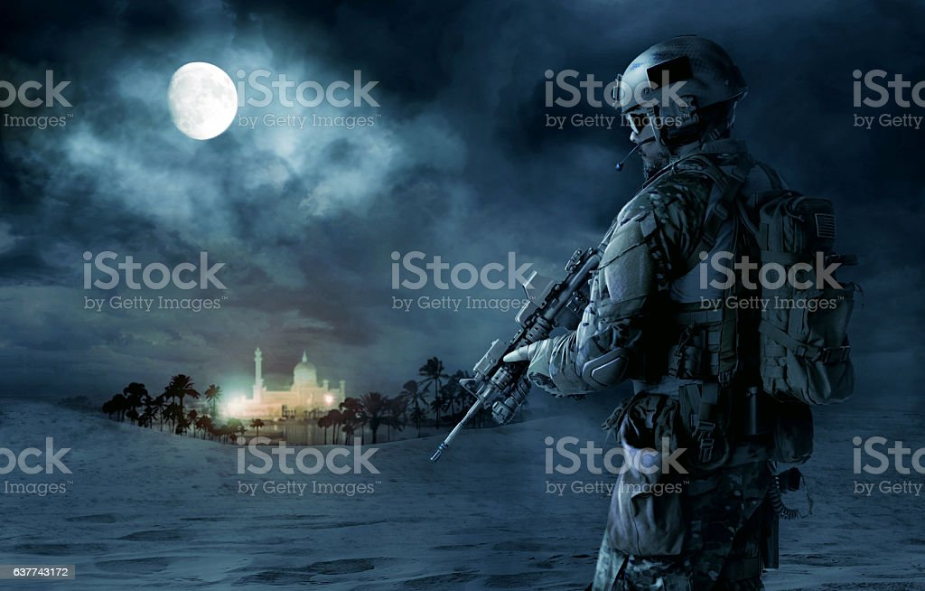 US Army Green Beret stock photo