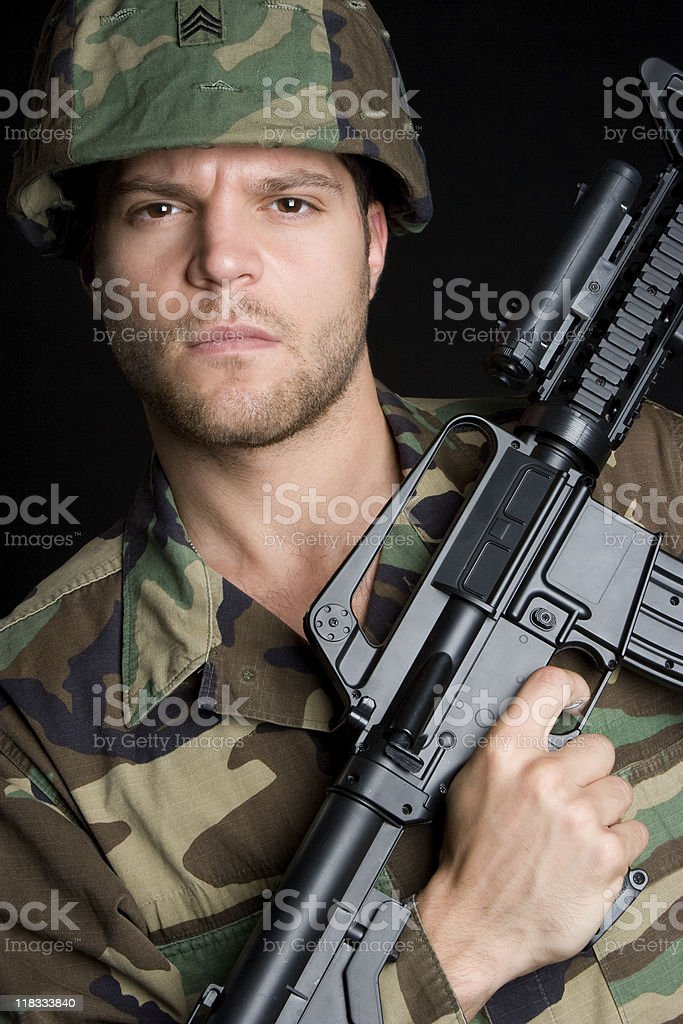 Army Gun Man royalty-free stock photo