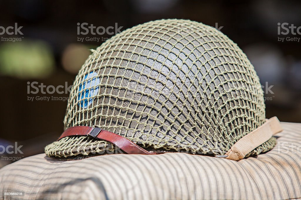 WWII Army Helmet US stock photo