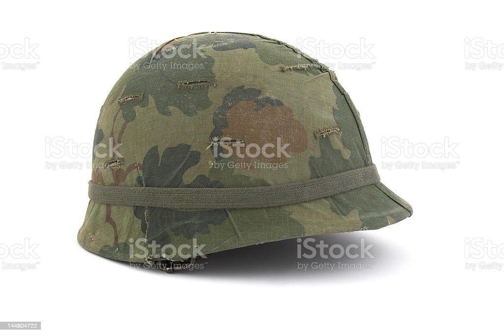 US Army helmet - Vietnam era stock photo