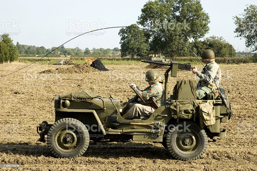 WWII US Army Jeep royalty-free stock photo
