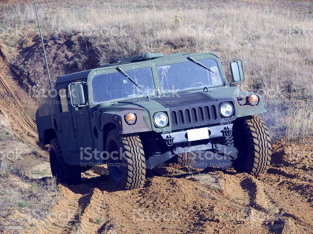 Army Jeep stock photo