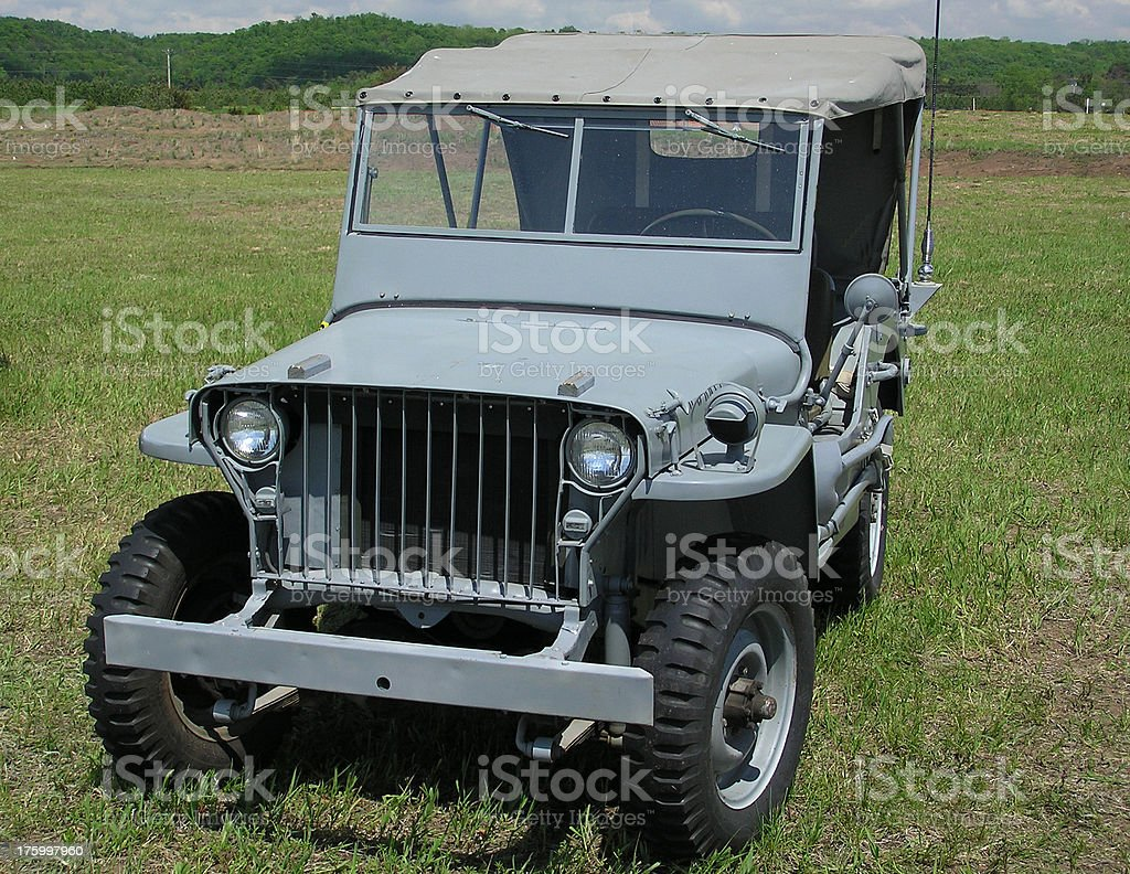 Army Jeep stock photo
