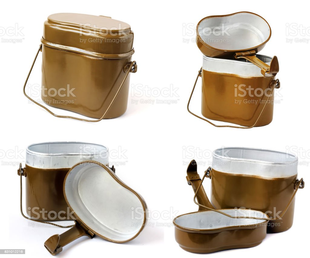 Army kettle stock photo