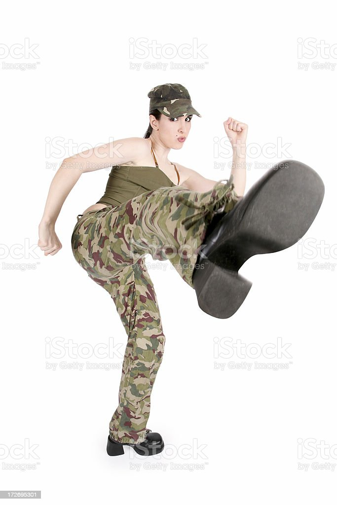 Army Kick royalty-free stock photo