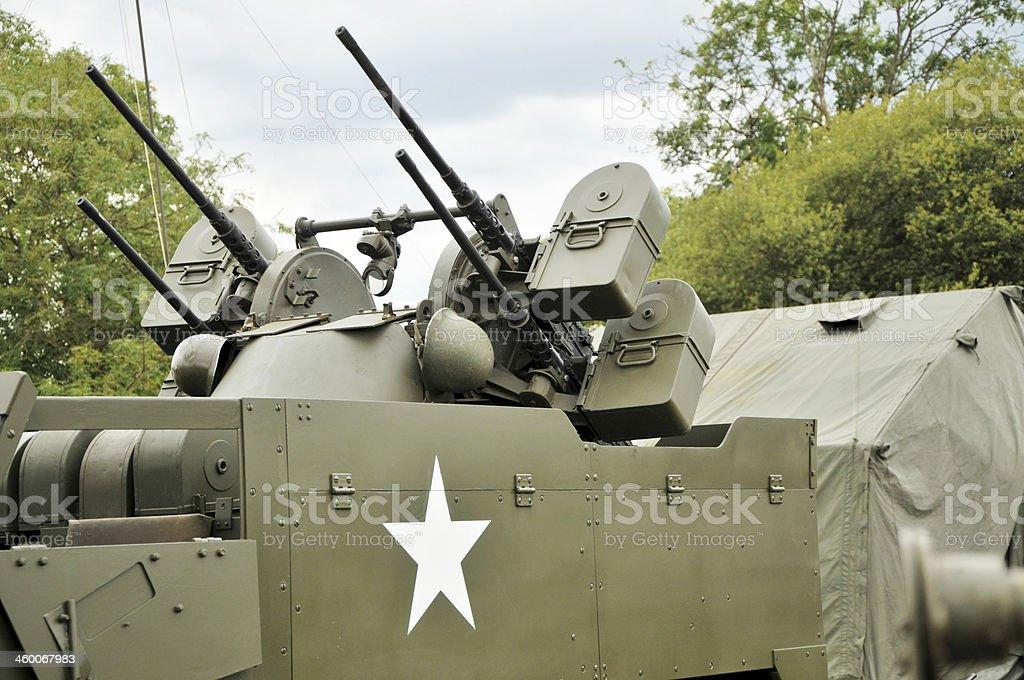 WW2 US Army M16 Quadmount Weaponry royalty-free stock photo