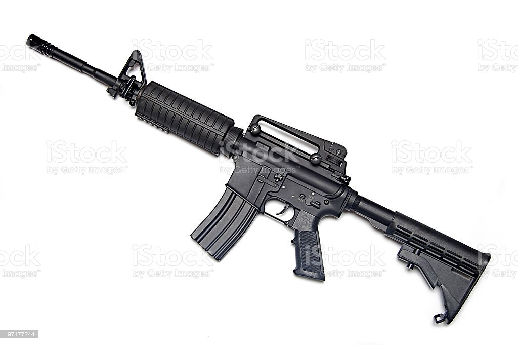 US Army M4A1 rifle. stock photo