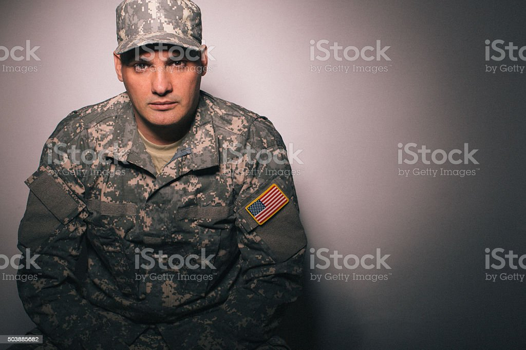 Army man stock photo