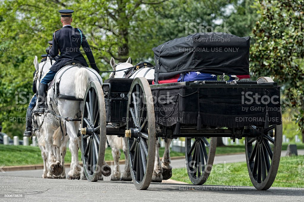 US Army marine funeral at Arlington cemetery stock photo