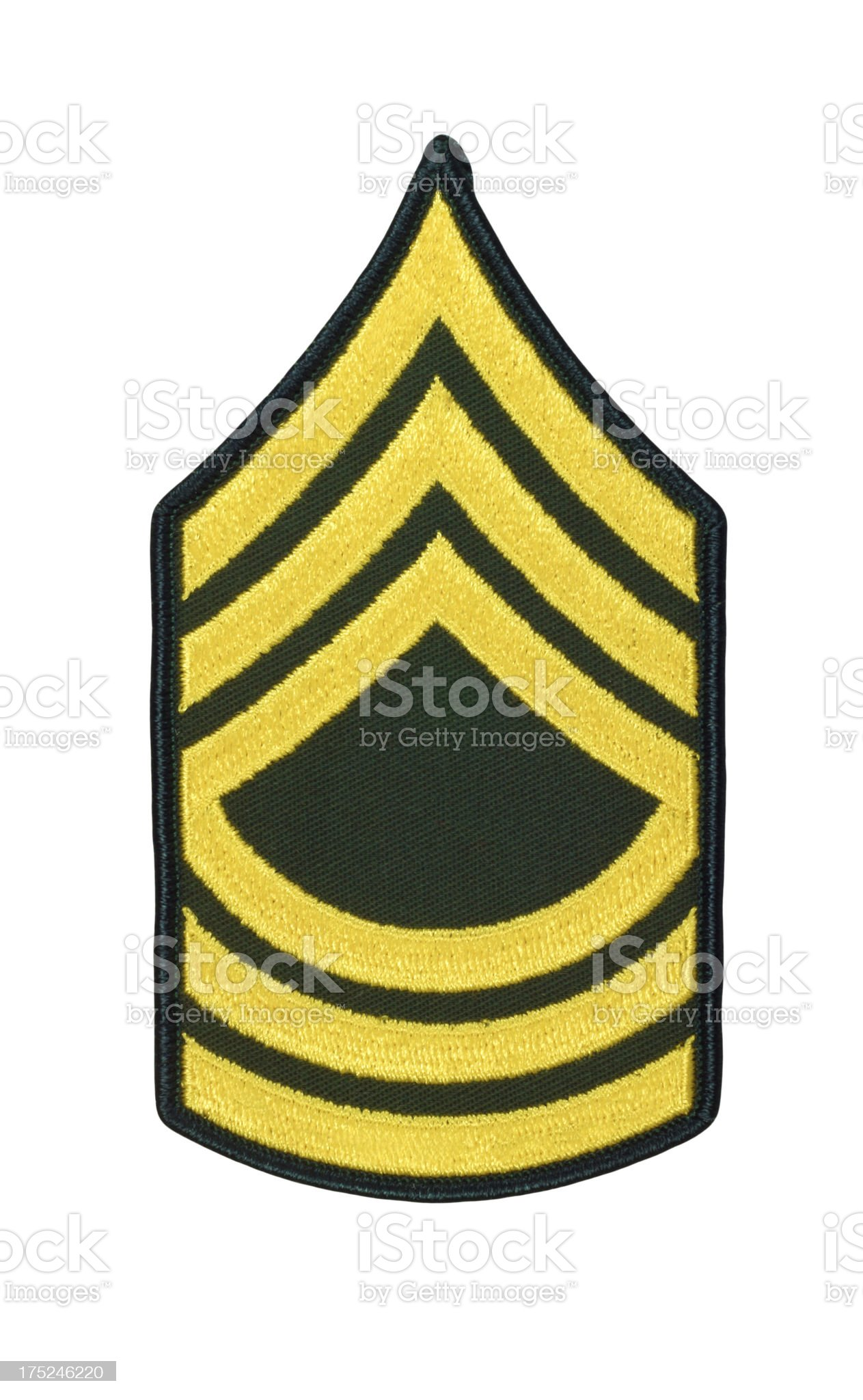 US Army Master Sergeant Rank Patch royalty-free stock photo