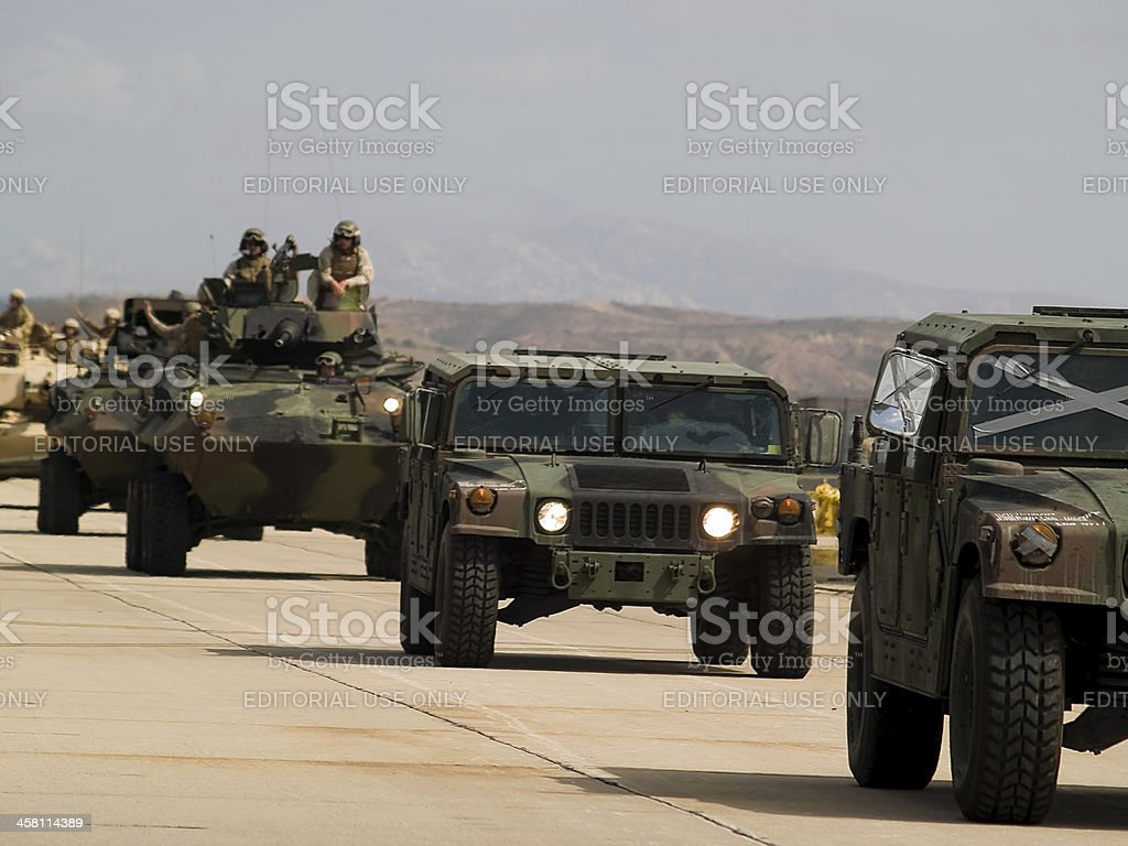 US army moves forward royalty-free stock photo