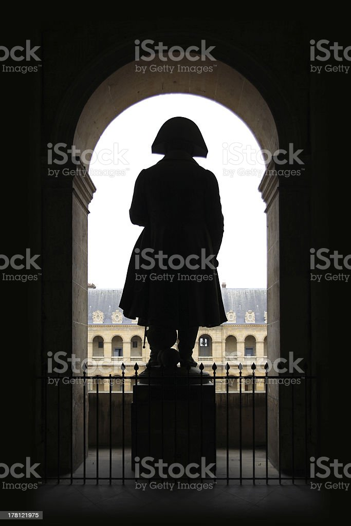 Army Museum and Statue of Napoleon, Paris, France. stock photo