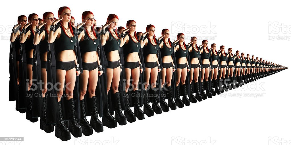 Army of clones royalty-free stock photo