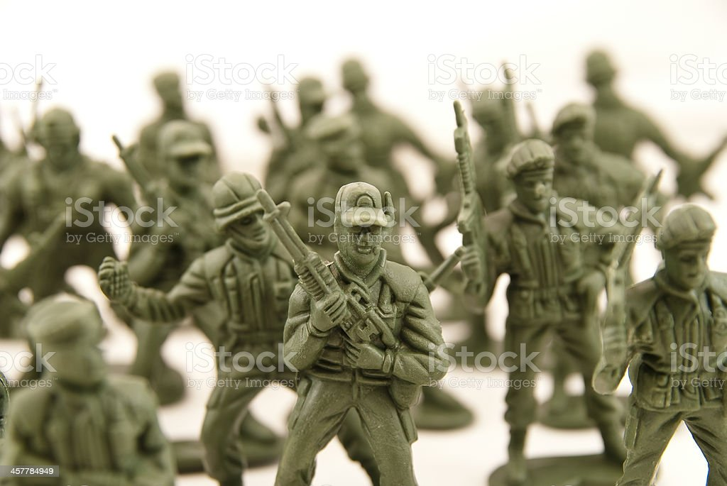 army of plastic stock photo