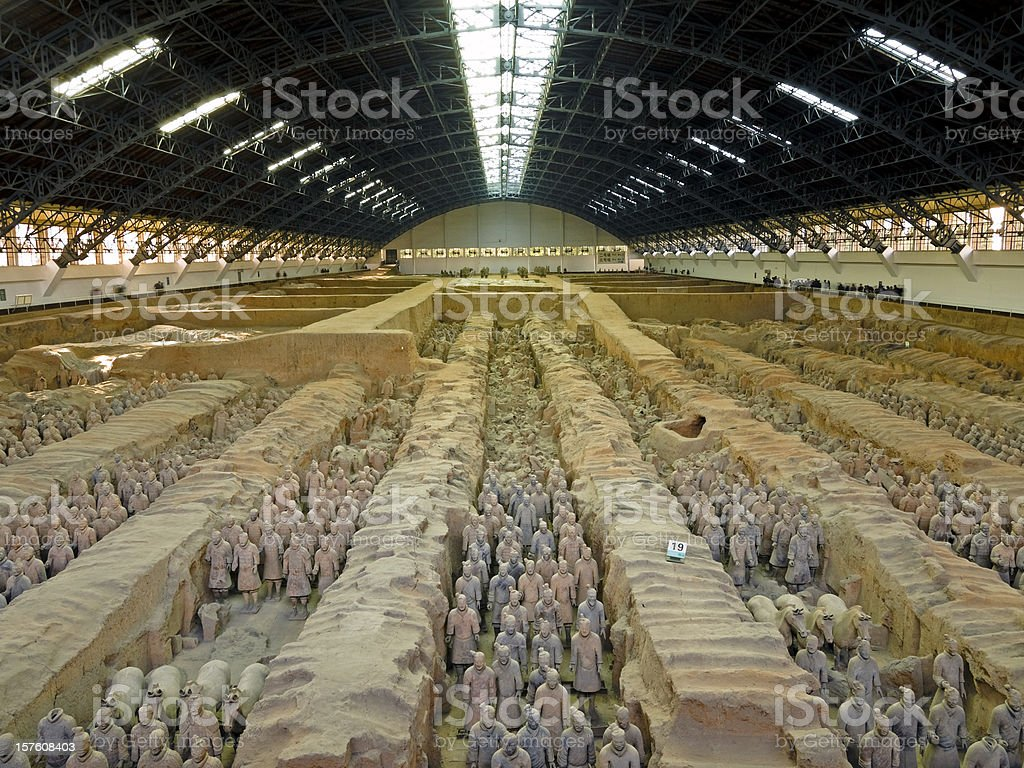 Army of the Terracotta Warriors royalty-free stock photo