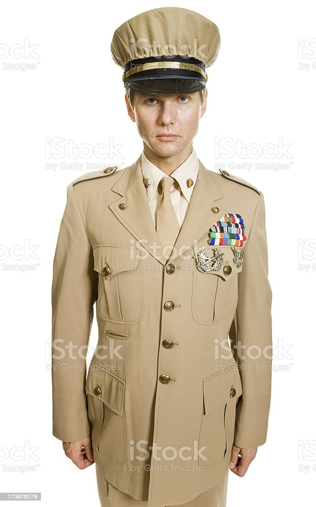 Army officer royalty-free stock photo