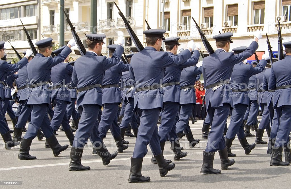 Army Officers Marching stock photo