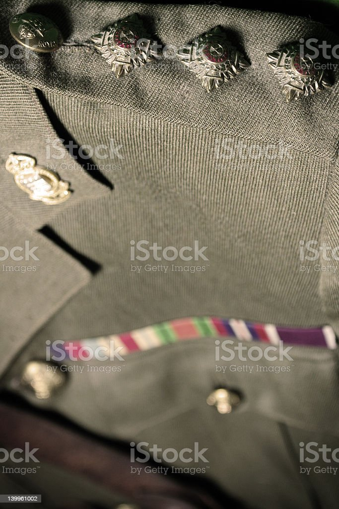 Army Officers Uniform royalty-free stock photo