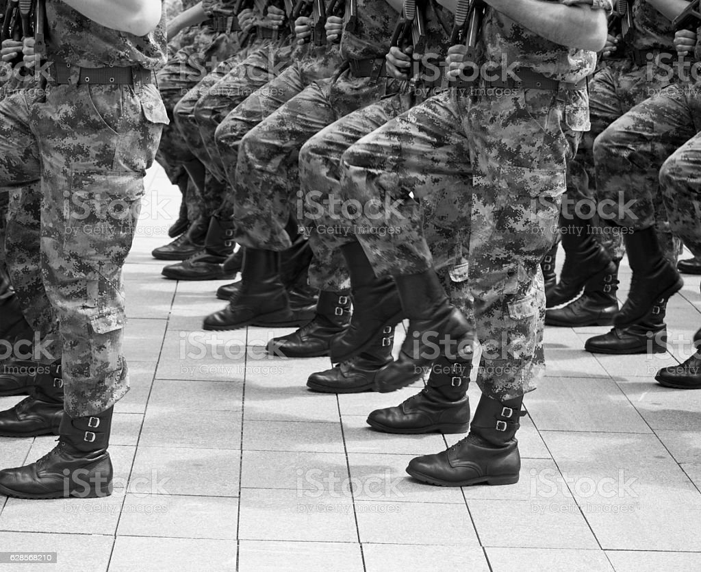 Army parade 1 stock photo