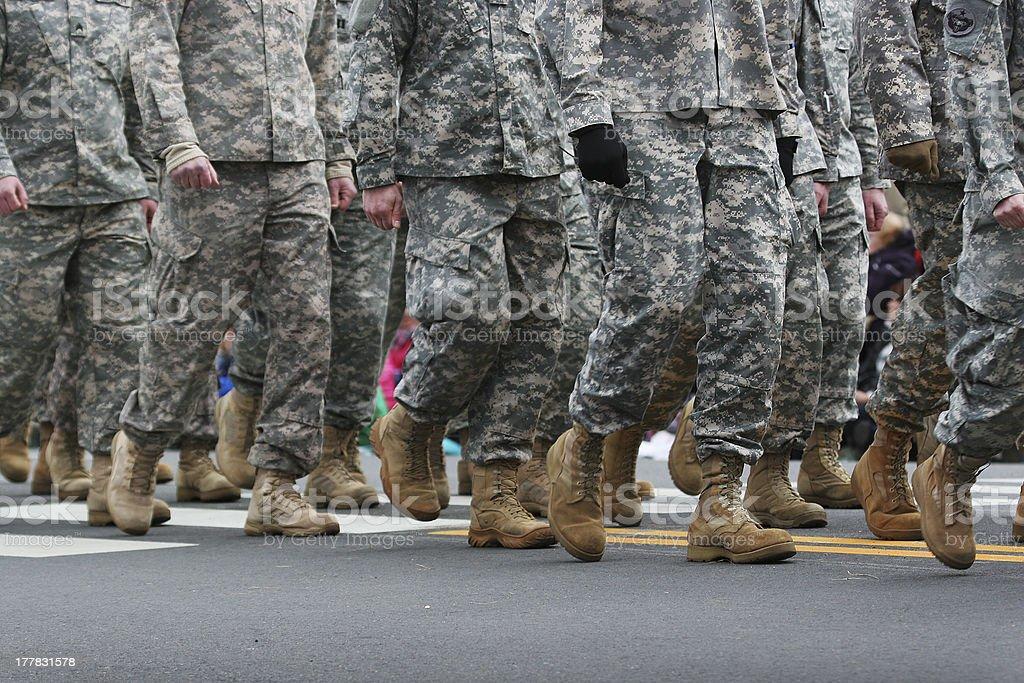Army Parade royalty-free stock photo