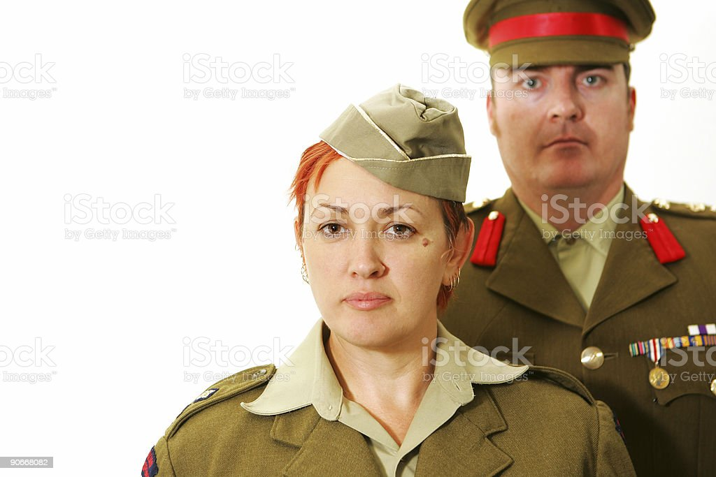 Army Personelle, history royalty-free stock photo