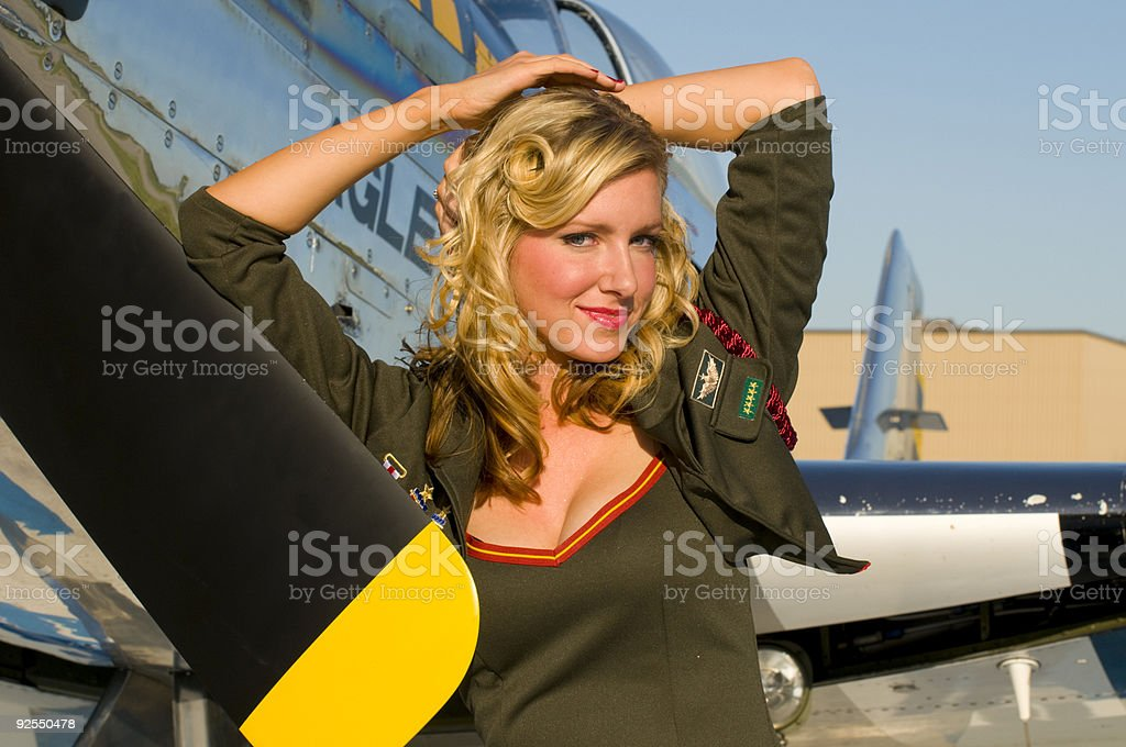 army pinup royalty-free stock photo