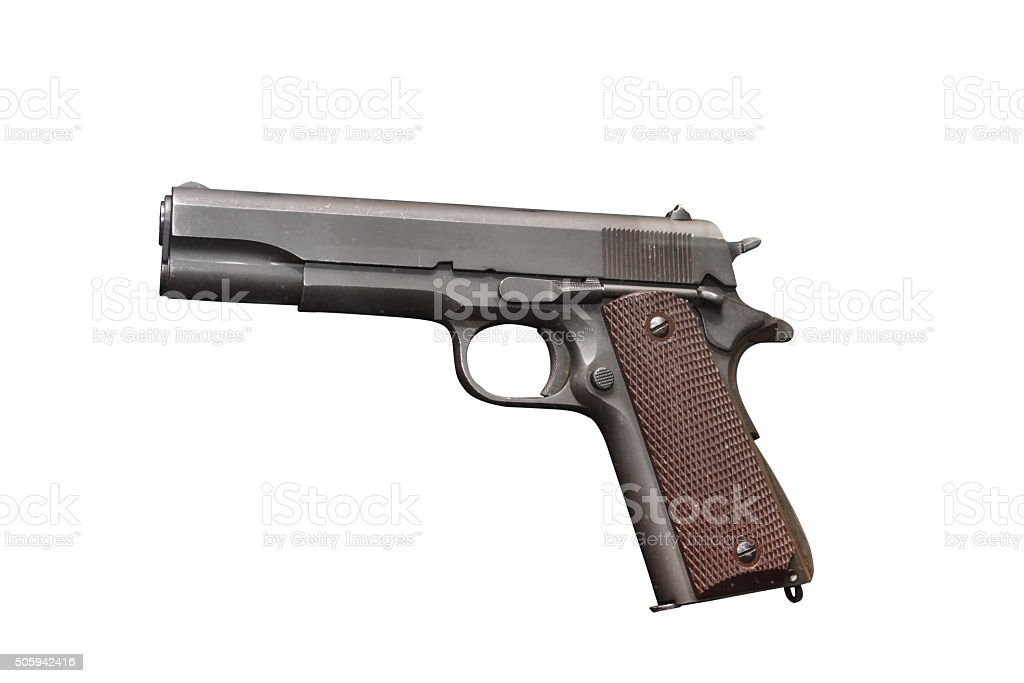 US Army Pistol Colt M1911 A1 Government Model stock photo