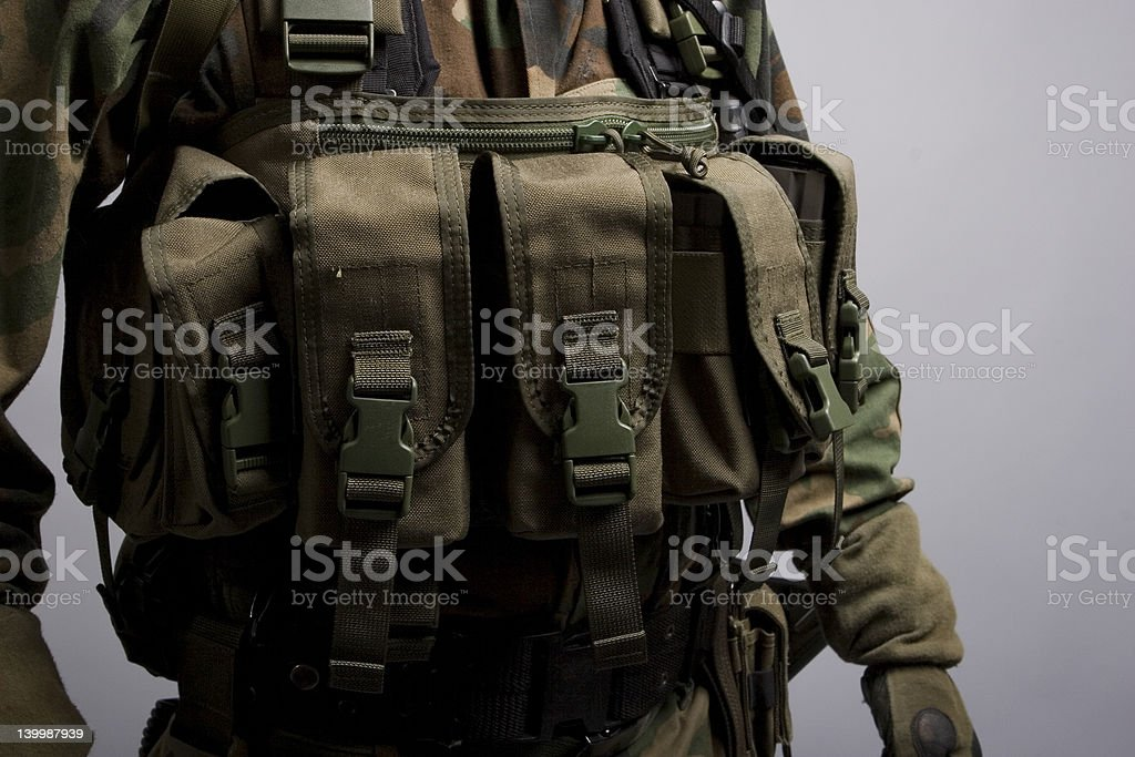 army pouches stock photo