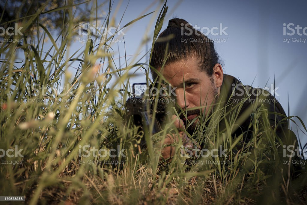 Army Practice royalty-free stock photo