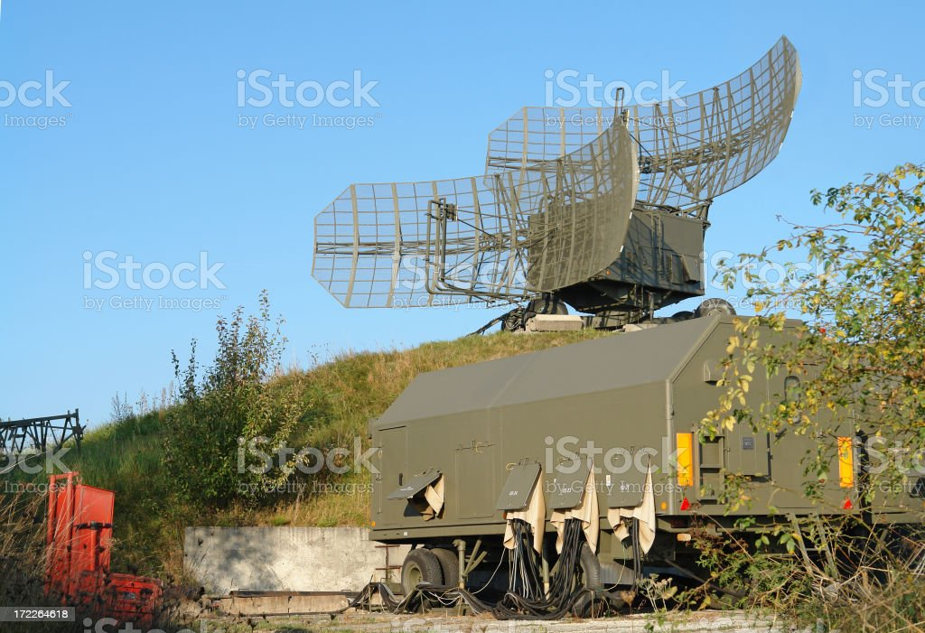 Army Radar Base royalty-free stock photo