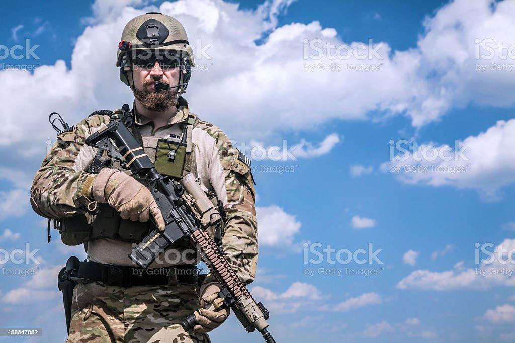 Army ranger stock photo