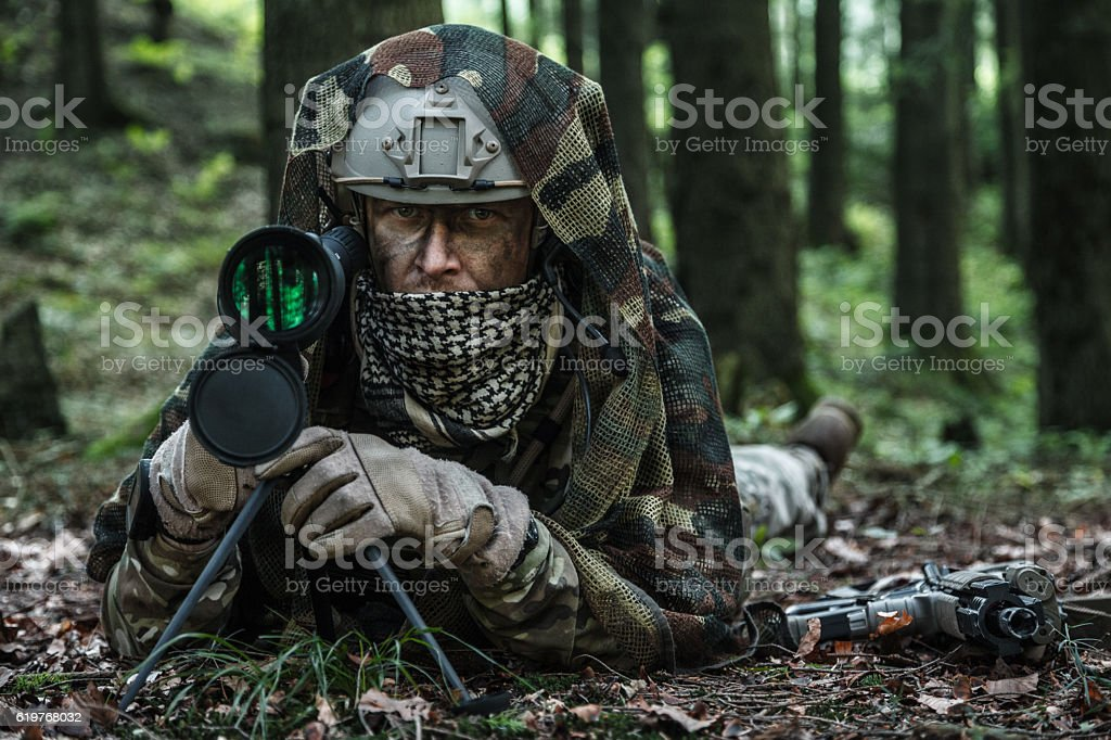 army ranger spotter stock photo