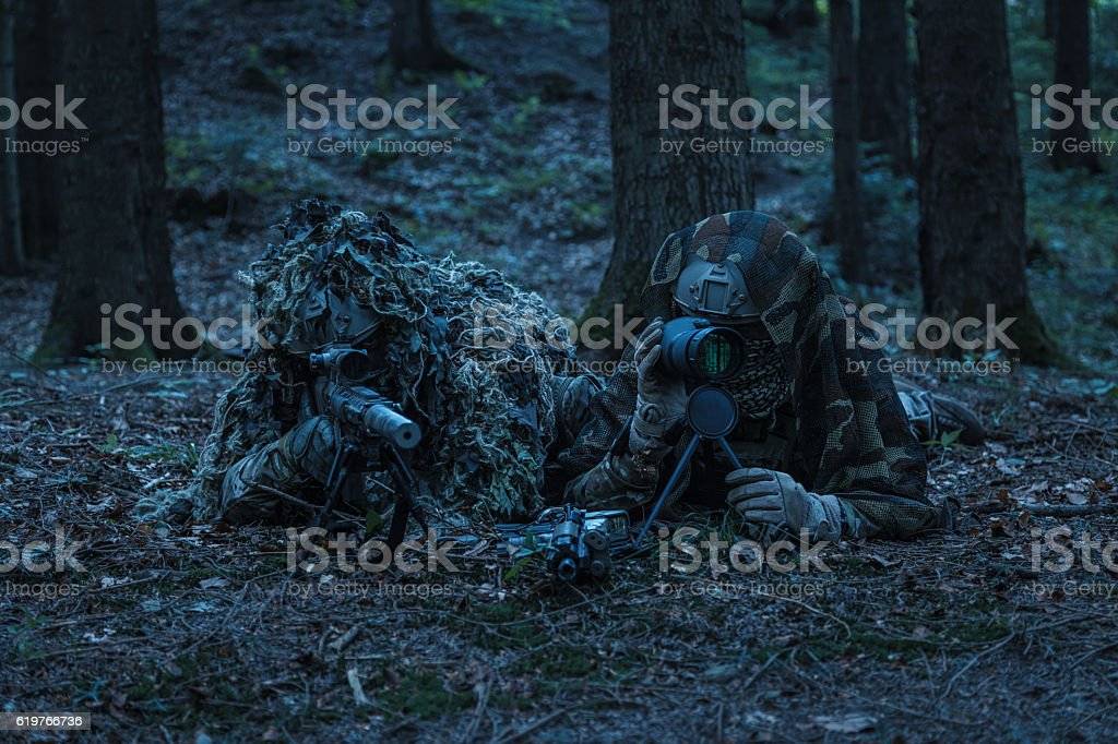 army rangers sniper pair stock photo