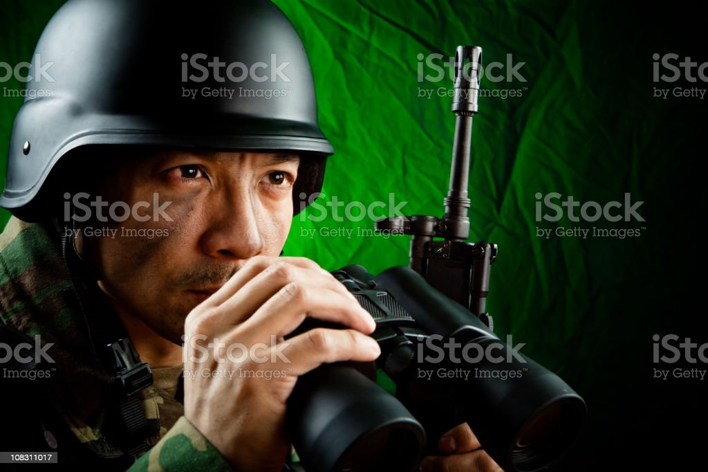army scout looking for enemy royalty-free stock photo