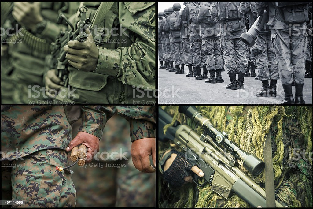 Army Set royalty-free stock photo