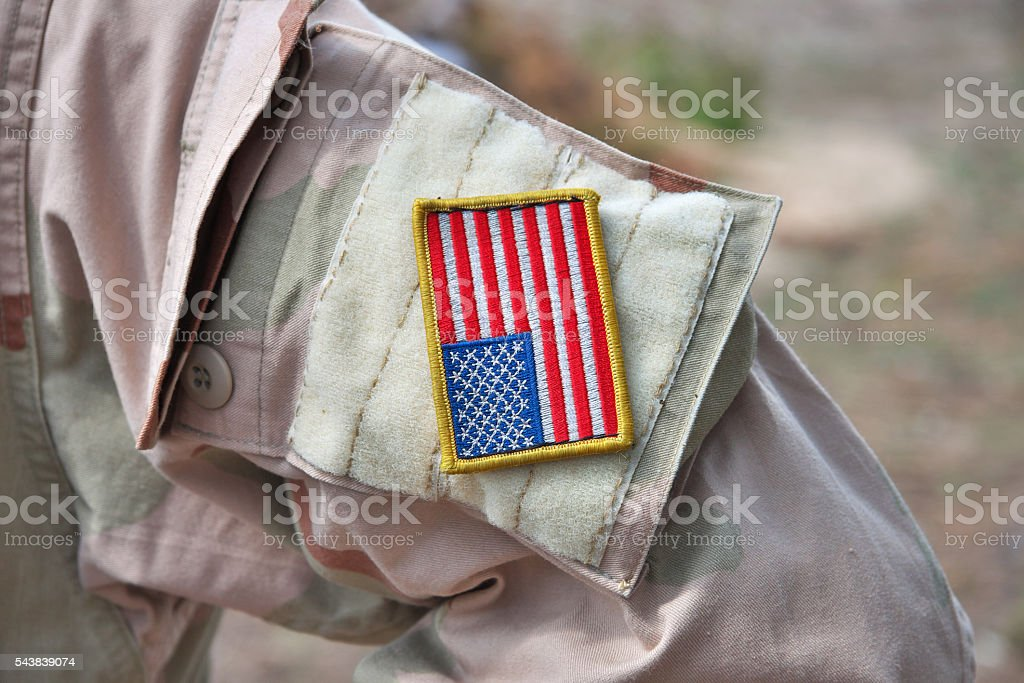 US Army sleeve patch stock photo