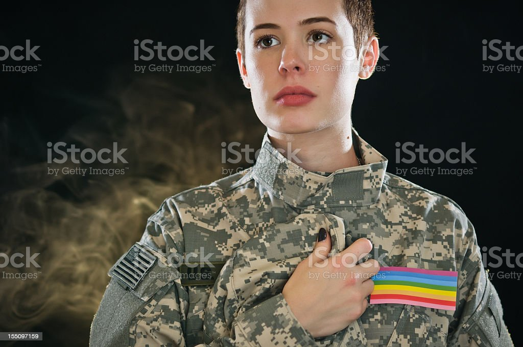 US Army Soldier DADT stock photo