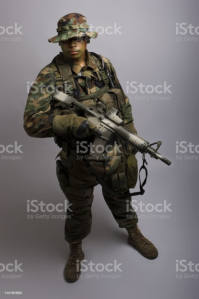 army soldier front royalty-free stock photo