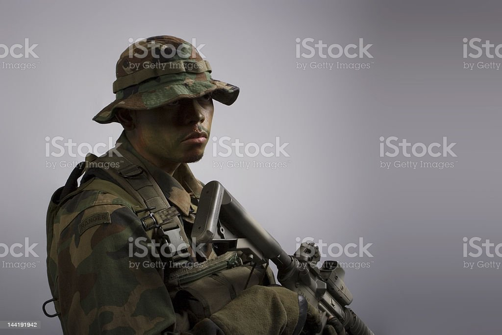 army soldier headshot royalty-free stock photo