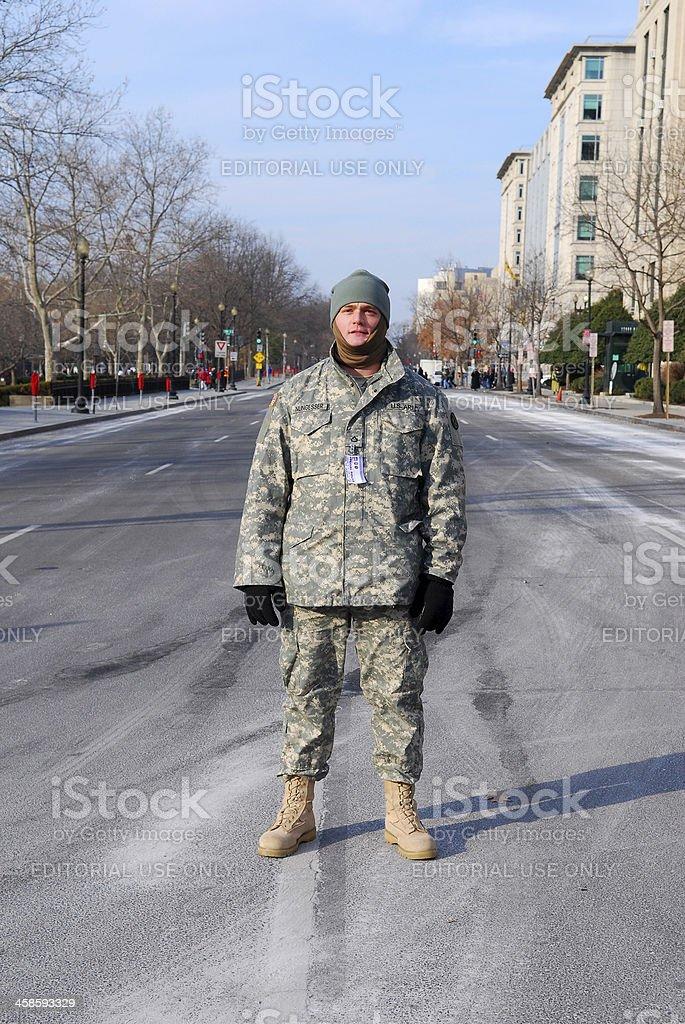 U.S. Army soldier in Washington DC stock photo