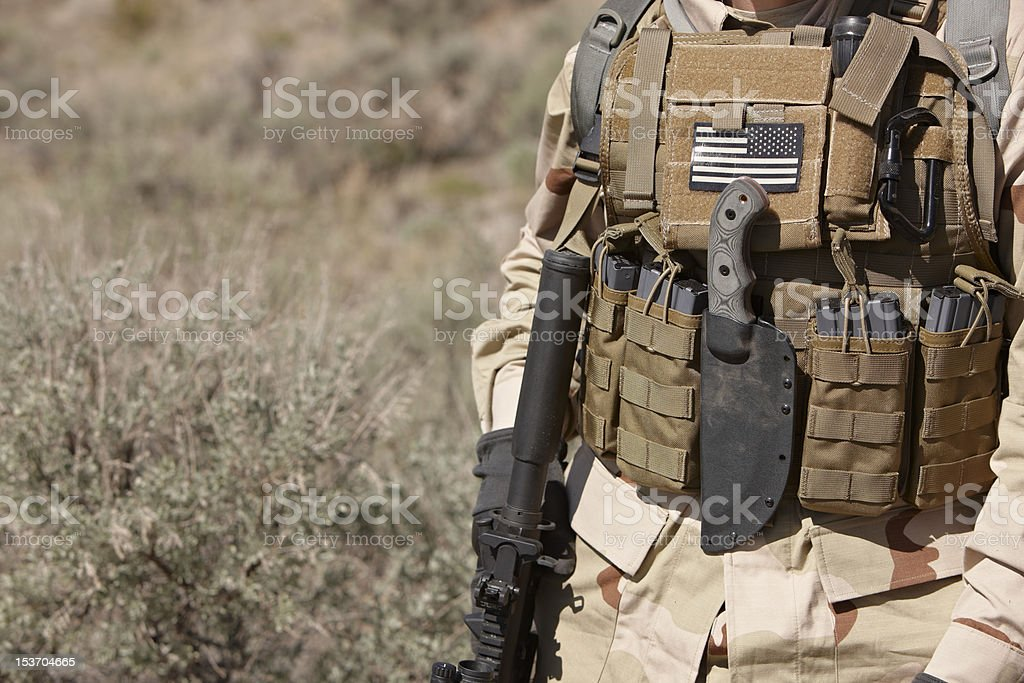 US Army Soldier Kit stock photo