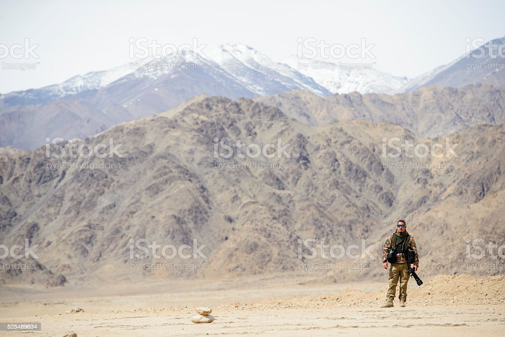 Army soldier photographer stock photo