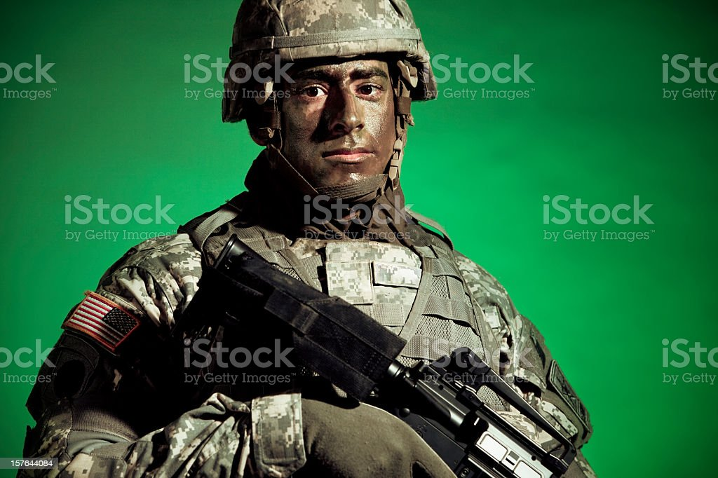 US Army soldier stock photo