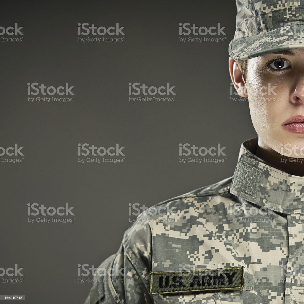 US Army Soldier royalty-free stock photo