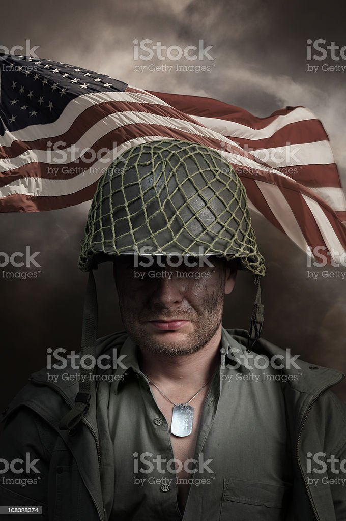 US Army Soldier Portrait royalty-free stock photo